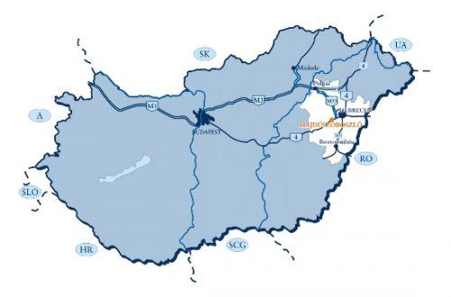 magyarország térkép hajduszoboszlo Map   Hungarospa Hajdúszoboszló magyarország térkép hajduszoboszlo