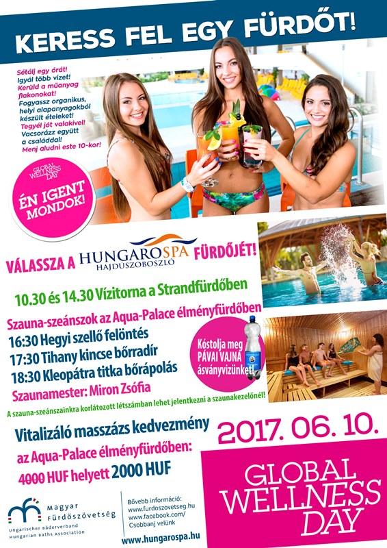 Wellness Világnap Hungarospa - Global Wellness Day 2017