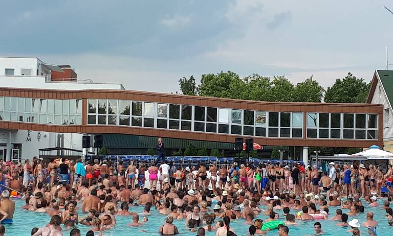 Bereczki Zolival álmodtunk csodát az elmúlt hétvégén a Hungarospa Strandfürdőjében